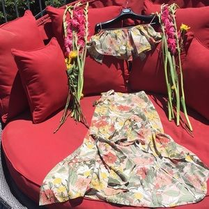 2 Piece Ruffle Skirt Crop Top Set NWT Size Small